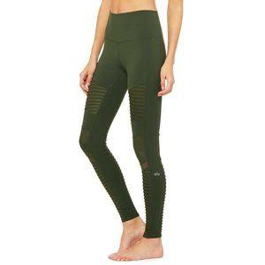 Alo Yoga Hunter Green High Waist Moto Leggings